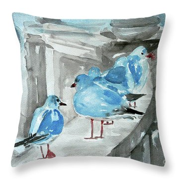 Rest By The Sea Throw Pillow