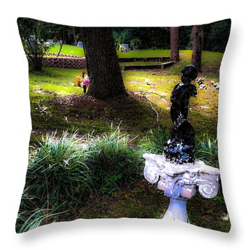 Throw Pillow featuring the photograph Rest In Peace by Anthony Baatz