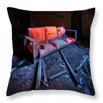 Rest In Pieces Throw Pillow by Evelina Kremsdorf