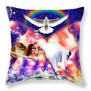 Rest In The Lord Throw Pillow