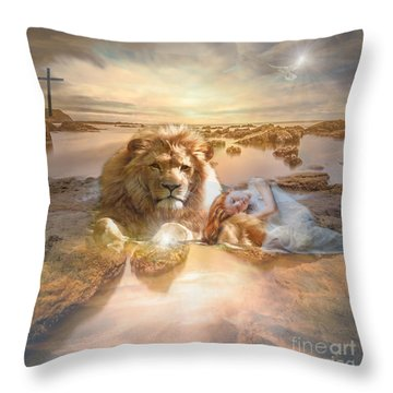 Divine Rest Throw Pillow