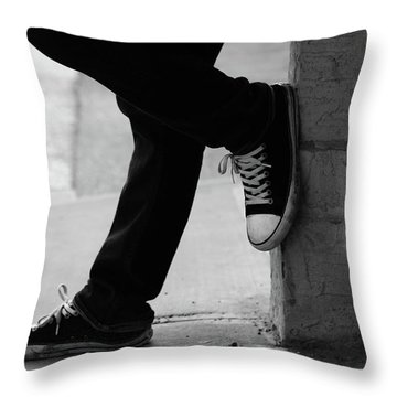 Rest Then Tackle  Throw Pillow by Empty Wall