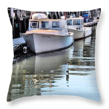 Rest Time Throw Pillow by Elizabeth Dow