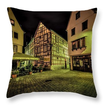 Throw Pillow featuring the photograph Restaurante Roseneck by David Morefield