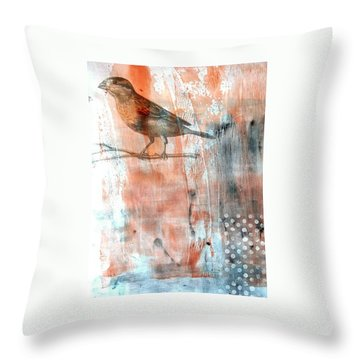 Throw Pillow featuring the mixed media Restful Moment by Rose Legge
