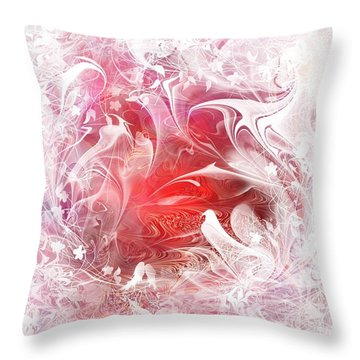 Resting Heart Throw Pillow by Rachel Christine Nowicki