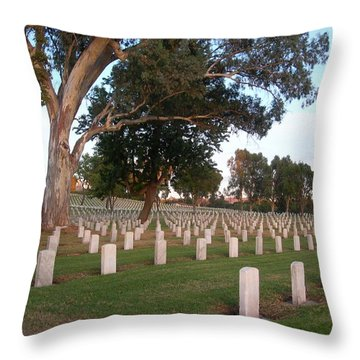 Resting In Peace Throw Pillow