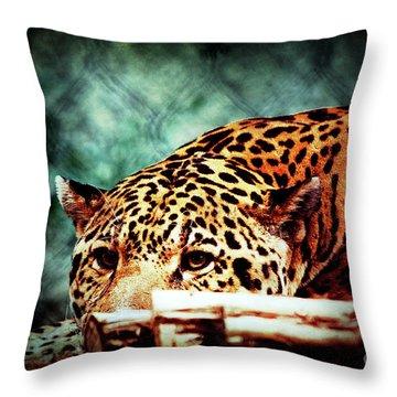 Resting Jaguar Throw Pillow