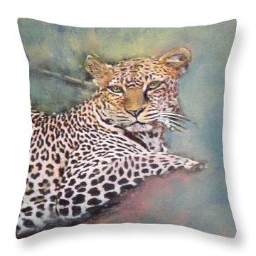 Resting Leopard Throw Pillow