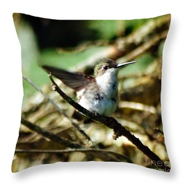 Resting Naturally Throw Pillow