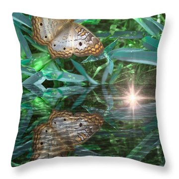 Resting On River's Edge Throw Pillow