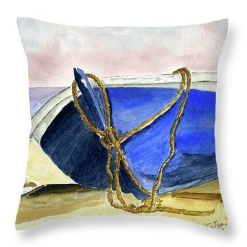 Resting On The Beach Throw Pillow