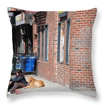 Resting On The Corner Throw Pillow by Rob Hans
