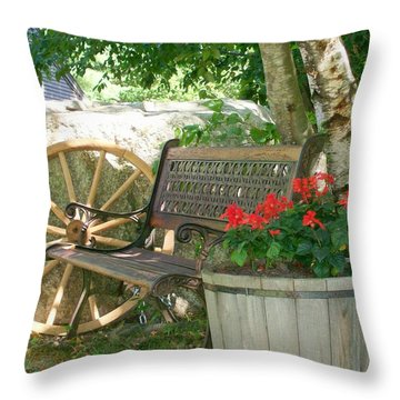 Resting Place Throw Pillow