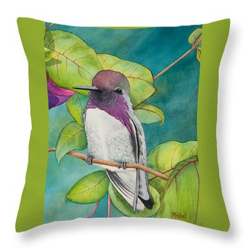 Resting Place Close Up Throw Pillow