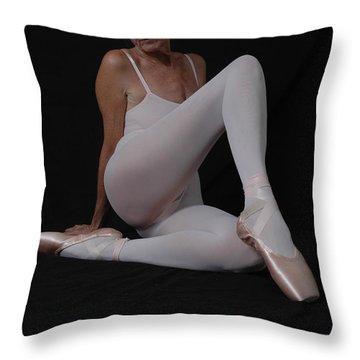 Throw Pillow featuring the photograph Resting Pointe by Nancy Taylor