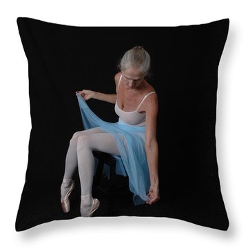 Throw Pillow featuring the photograph Resting Pose by Nancy Taylor