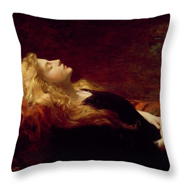 Resting Throw Pillow by Victor Gabriel Gilbert