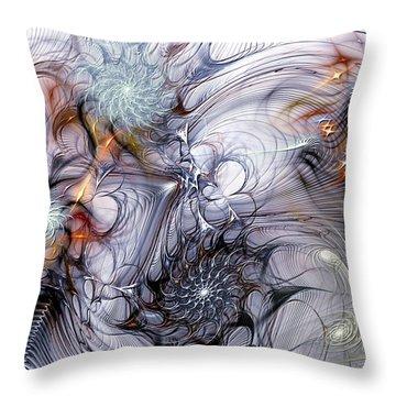 Restive Throw Pillow by Casey Kotas