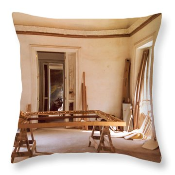 Throw Pillow featuring the photograph The Restoration Studio 2 by Susan Parish