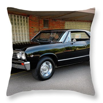 Restored Chevy Throw Pillow