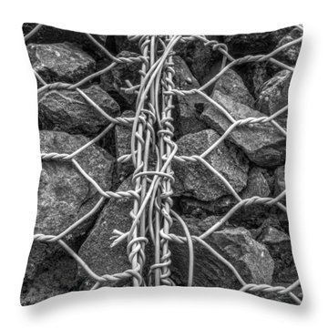 Restrained Throw Pillow