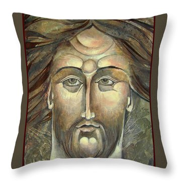 New Face Of Christ Throw Pillow