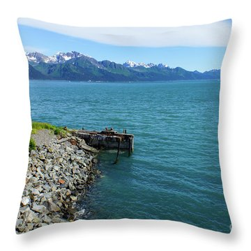 Resurrection Bay Throw Pillow