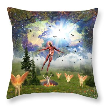 Resurrection Of Hieronymus Bosch Throw Pillow