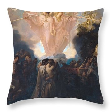 Resurrection Of The Dead Throw Pillow by Victor Mottez