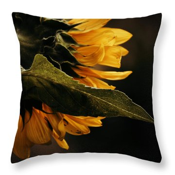 Reticent Sunflower Throw Pillow