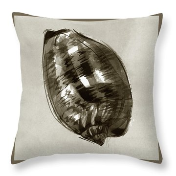 Throw Pillow featuring the painting Reticulated Cowrie by Judith Kunzle