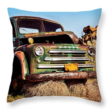 Retired Throw Pillow by Aron Kearney