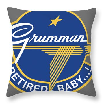 Retired Baby Throw Pillow