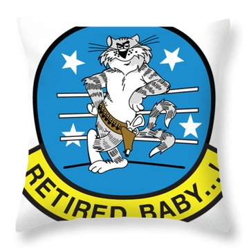 Retired Baby - Tomcat Throw Pillow