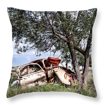 Retired Bug Throw Pillow