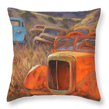 Retired Fireman Throw Pillow