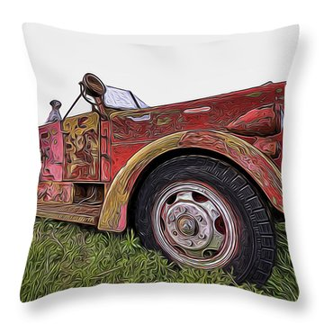 Retired Hero Throw Pillow