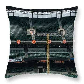 Retired Numbers Of The Orioles Greatest Ever Throw Pillow