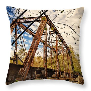 Retired Trestle Throw Pillow