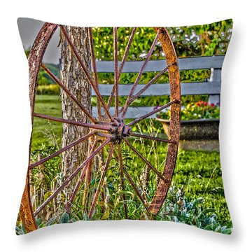 Throw Pillow featuring the photograph Retired by William Norton