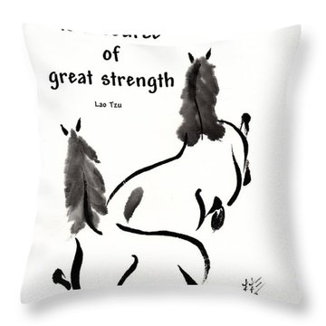 Throw Pillow featuring the painting Retired With Lao Tzu Quote IIi by Bill Searle
