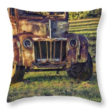 Retired Wrecker Throw Pillow