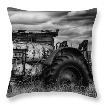Throw Pillow featuring the photograph Retirement  by Bitter Buffalo Photography