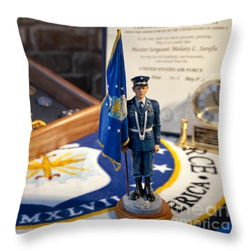 Throw Pillow featuring the photograph Retirement by Melany Sarafis