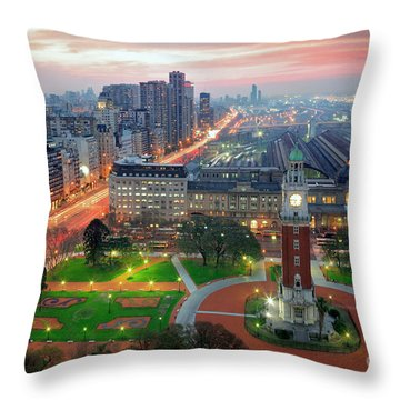 Throw Pillow featuring the photograph Retiro Buenos Aires by Bernardo Galmarini