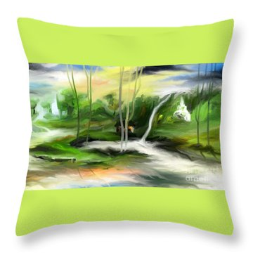 Retreat Throw Pillow by Rushan Ruzaick