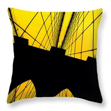 Retro Arches Throw Pillow