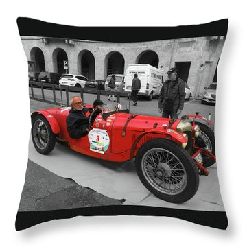 Retro Auto Fiat Balilla Throw Pillow