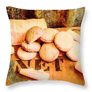 Retro Butter Shortbread Wall Artwork Throw Pillow